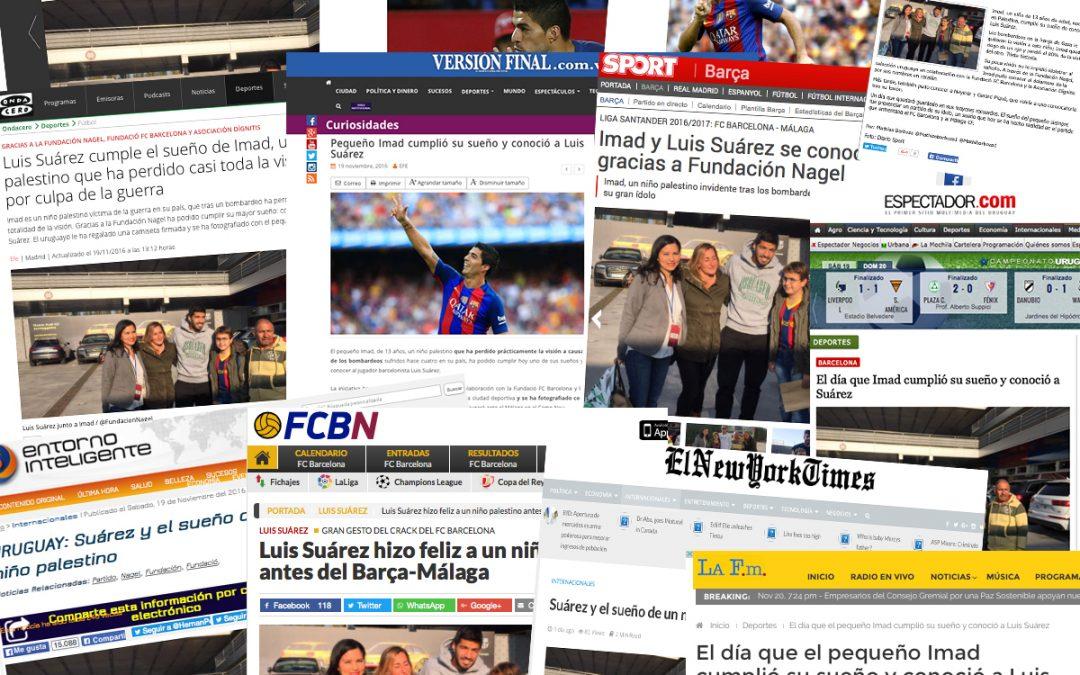 El NY Times, ABC, Mundo Deportivo… se hacen eco de la acción de Fundación Nagel con Imad y Luis Suárez