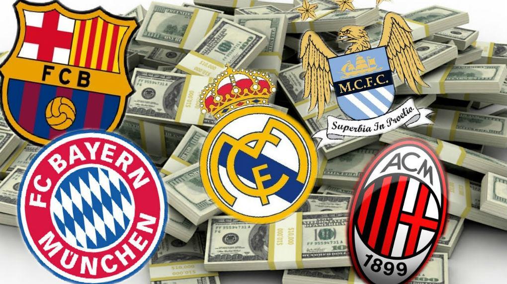 ¿ Cuáles son los clubs más valiosos del mundo ?